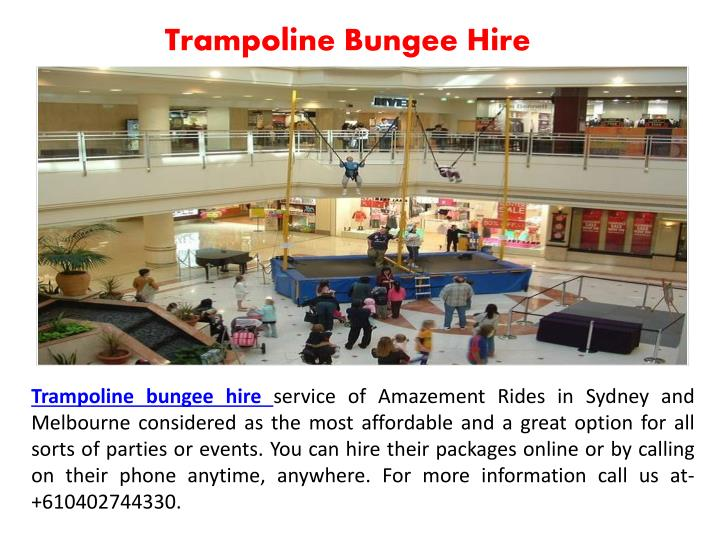 Trampoline Bungee Hire