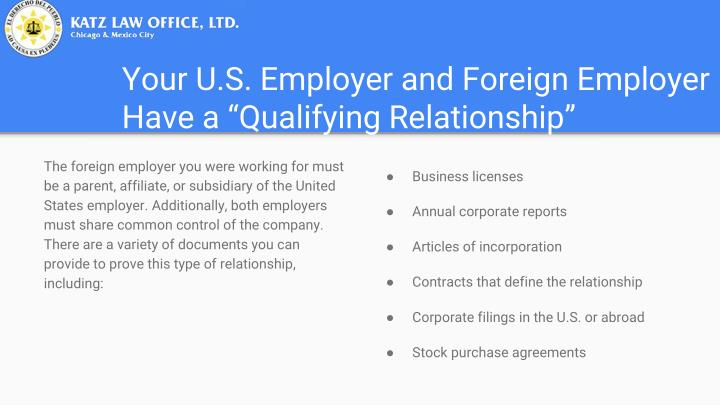 Your U.S. Employer and Foreign Employer