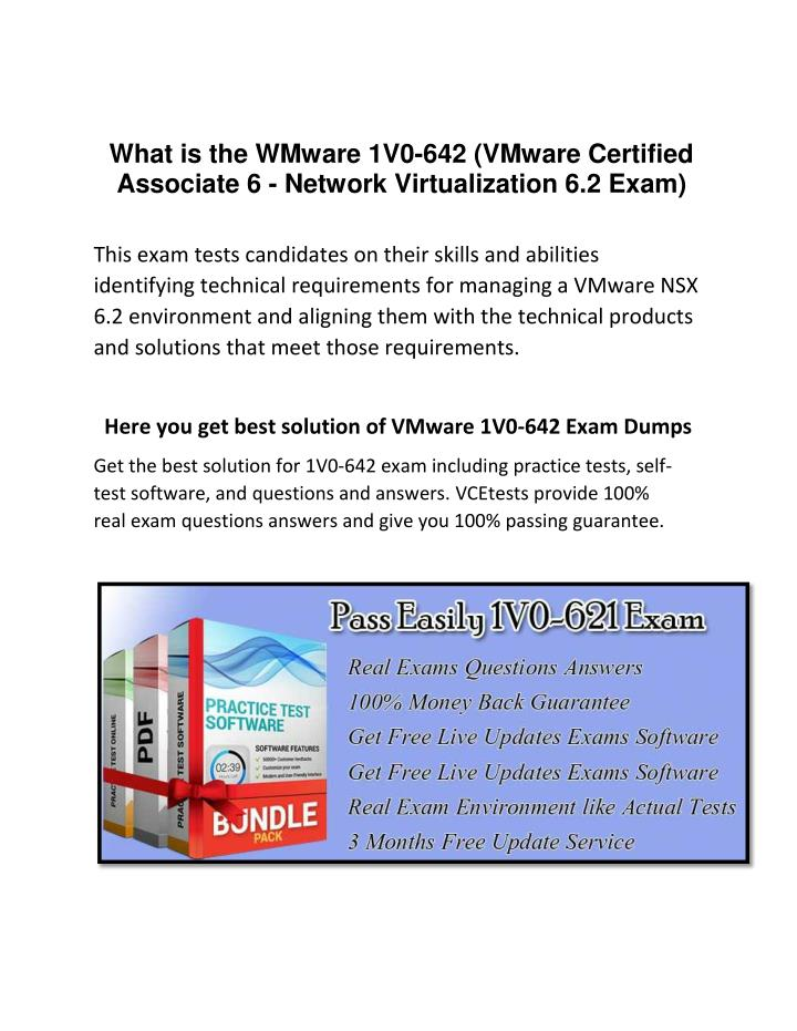 What is the WMware 1V0-642 (VMware Certified