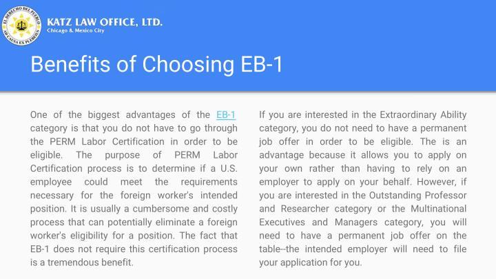 Benefits of Choosing EB-1