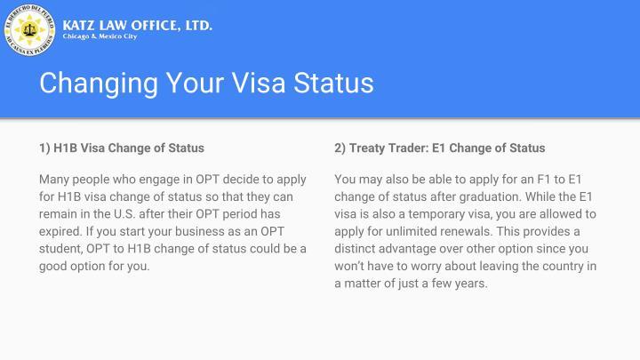 Changing Your Visa Status