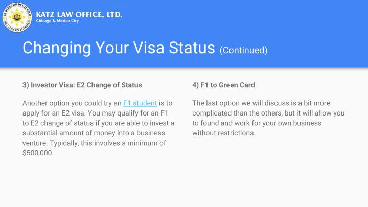 Changing Your Visa Status