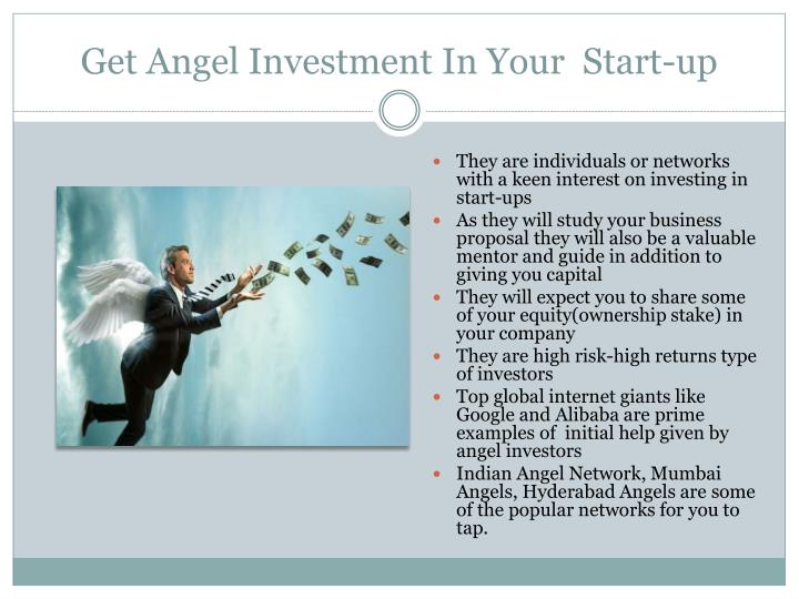 Get Angel Investment In Your  Start-up
