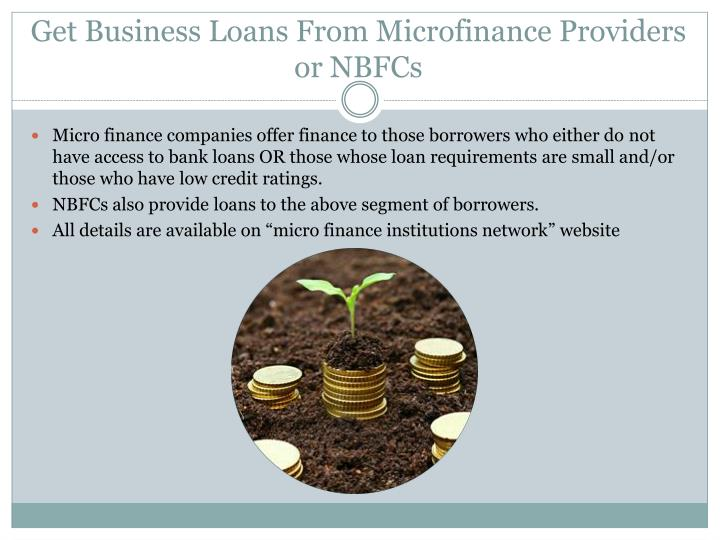 Get Business Loans From Microfinance Providers or NBFCs
