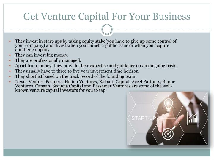 Get Venture Capital For Your Business