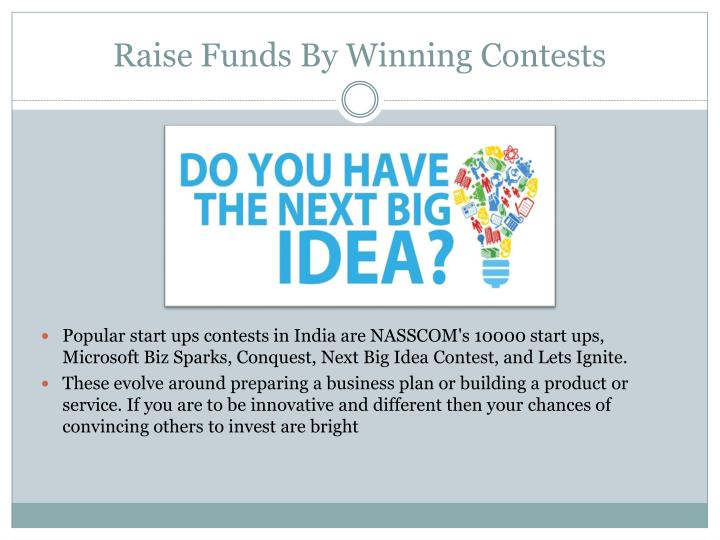 Raise Funds By Winning Contests