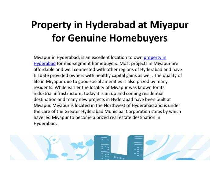 Property in Hyderabad at Miyapur