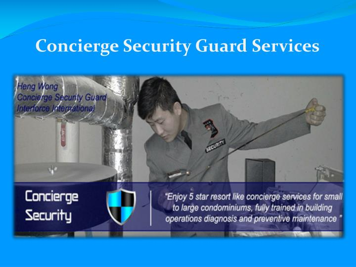 Concierge Security Guard Services