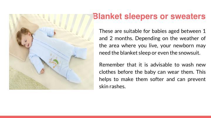Blanket sleepers or sweaters
