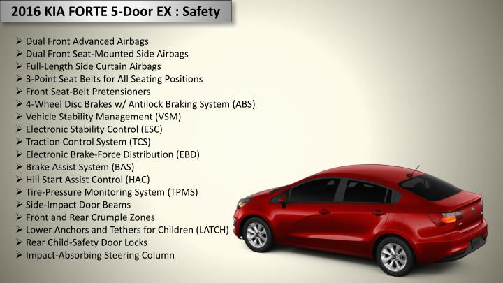 2016 KIA FORTE 5-Door EX : Safety