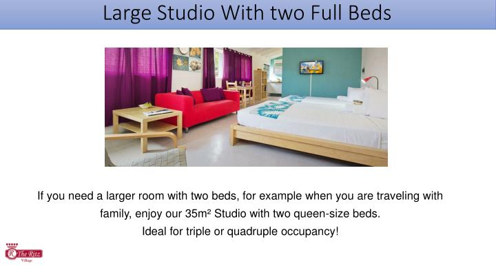Large Studio With two Full Beds