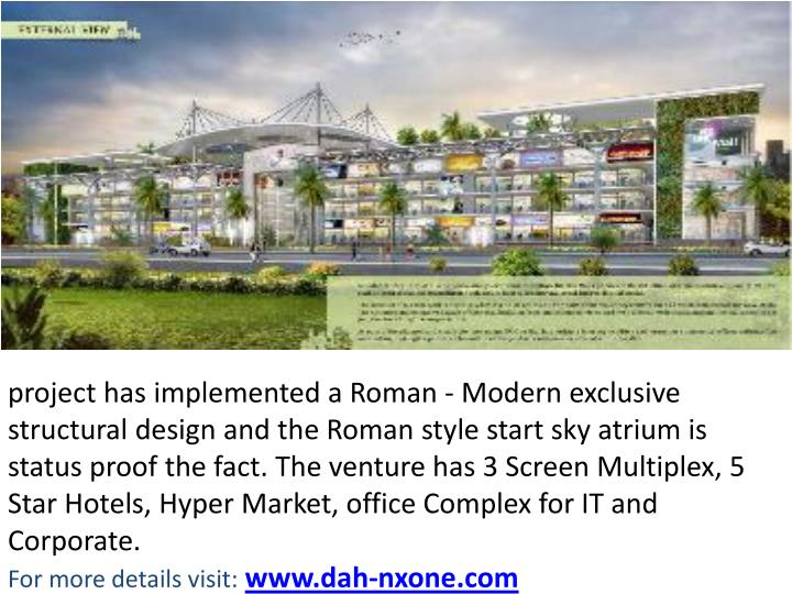 Project has implemented a Roman - Modern exclusive structural design and the Roman style start sky ...