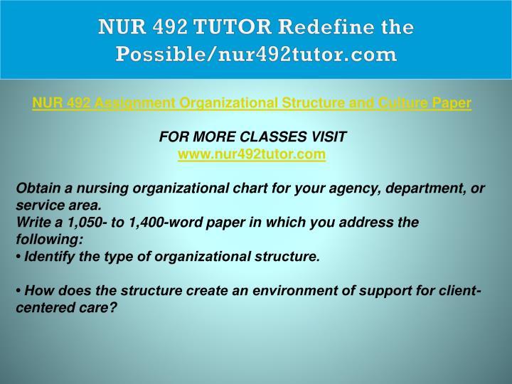 NUR 492 TUTOR Redefine the Possible/nur492tutor.com