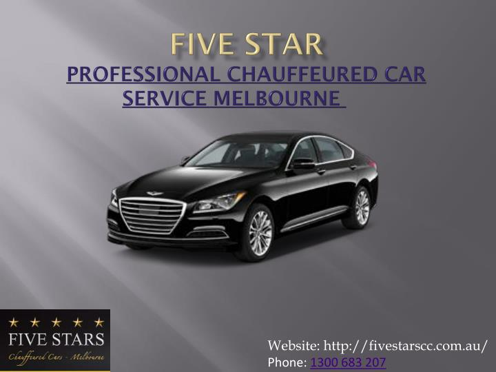 Five star professional chauffeured car service melbourne