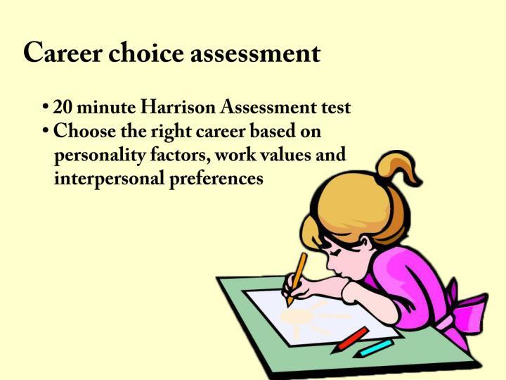 Career choice assessment