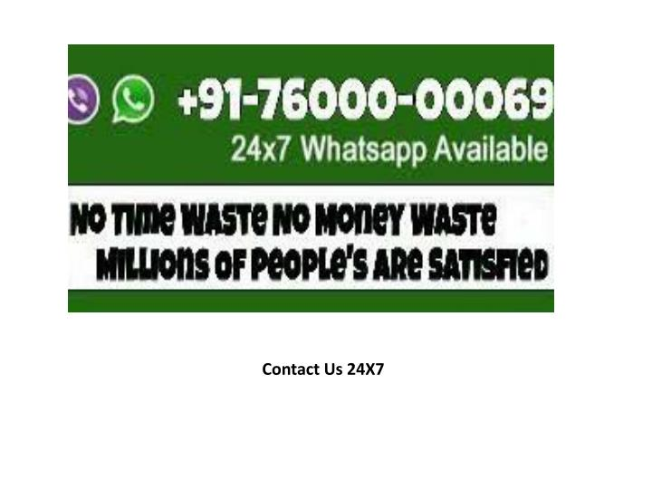 Contact Us 24X7