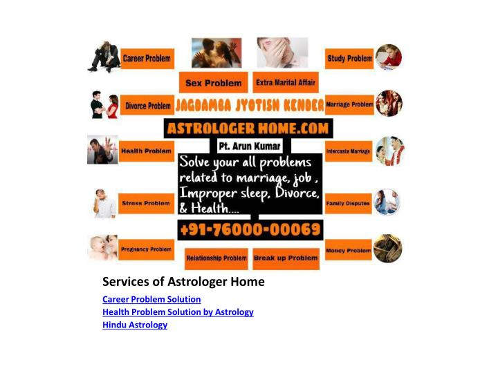 Services of astrologer home1