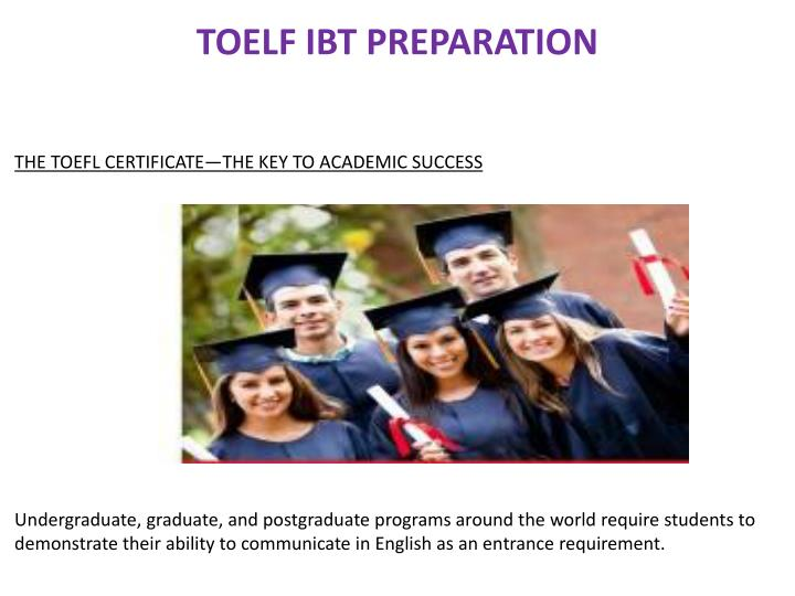 TOELF IBT PREPARATION