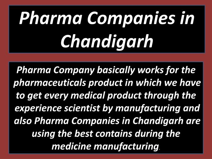 Pharma Companies in Chandigarh