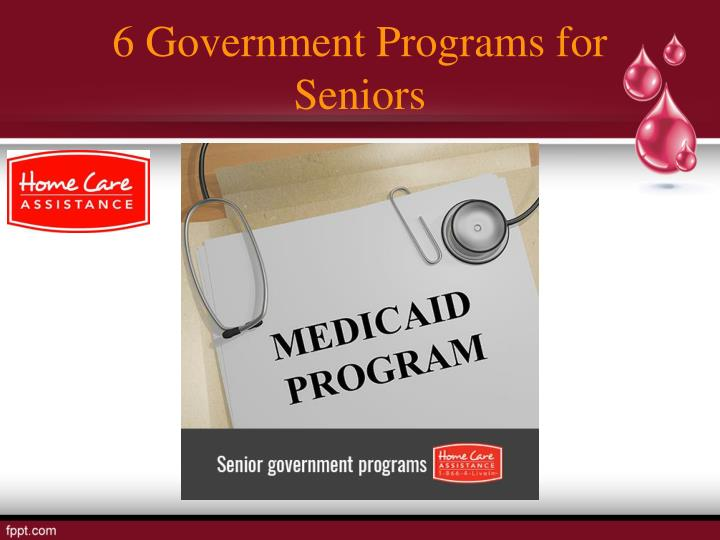 6 Government Programs for Seniors