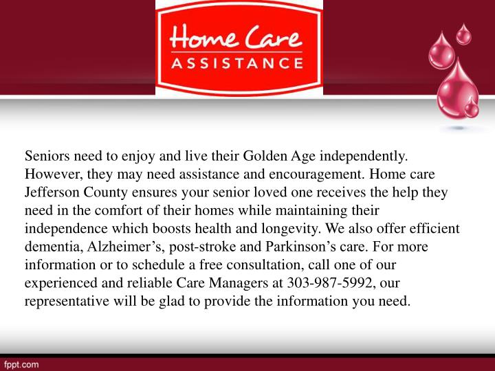 Seniors need to enjoy and live their Golden Age independently. However, they may need assistance and...