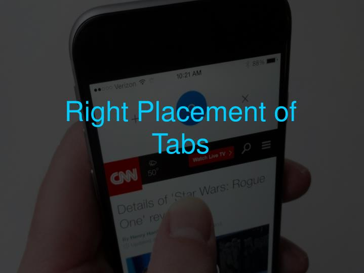 Right Placement of Tabs
