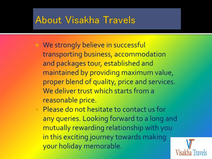 About visakha travels