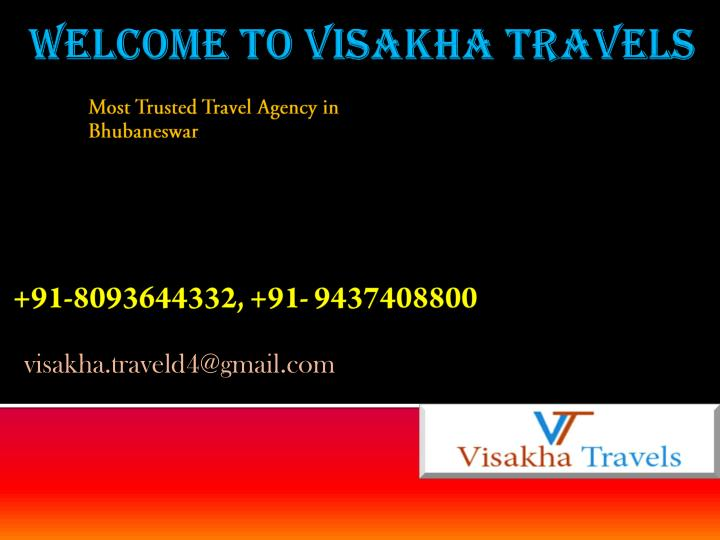 Most trusted travel agency in bhubaneswar
