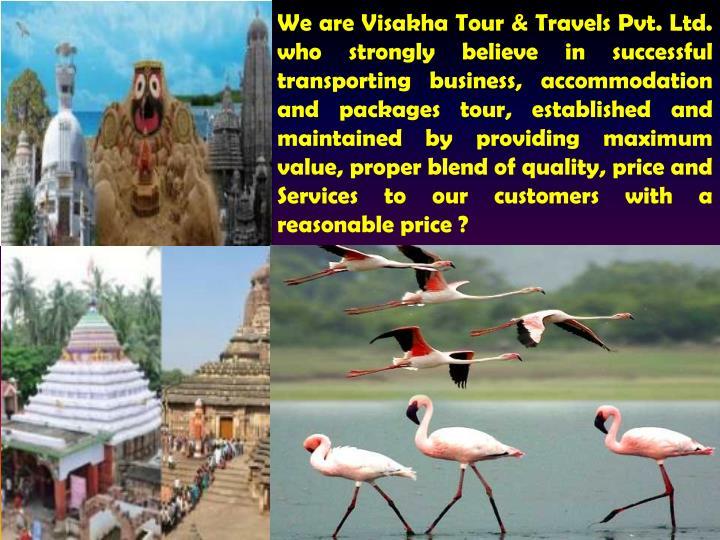 We are Visakha Tour & Travels Pvt. Ltd.