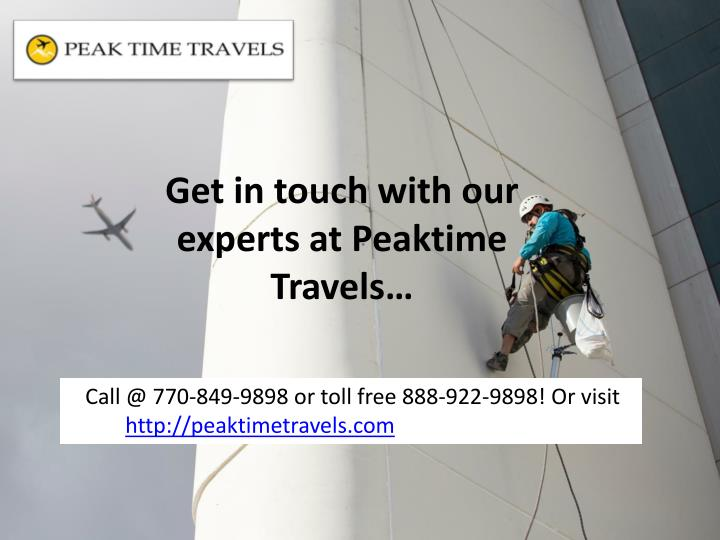 Get in touch with our experts at