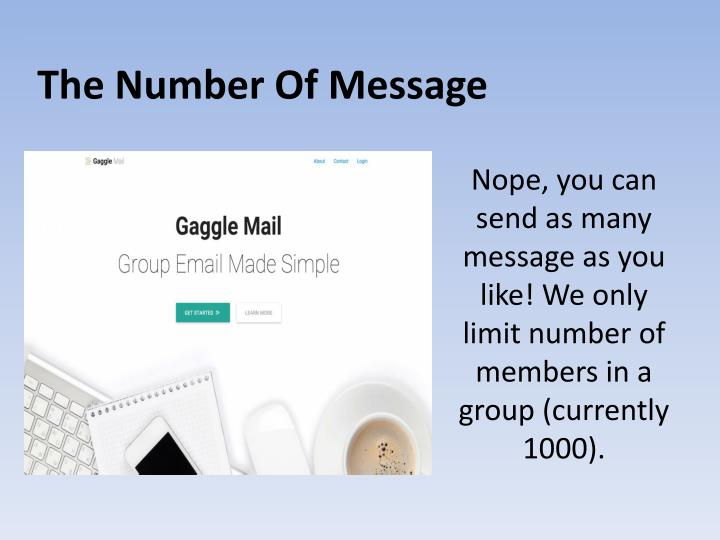 The Number Of Message