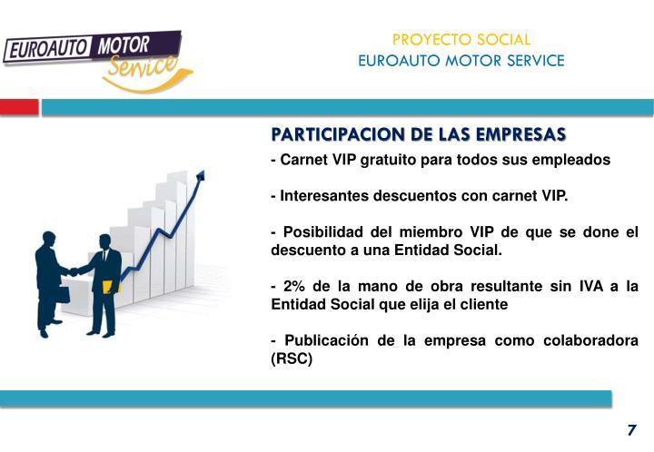 PARTICIPACION DE LAS EMPRESAS