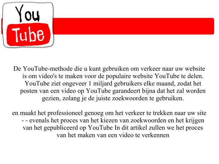 De YouTube-methode die u kunt gebruiken om verkeer naar uw website