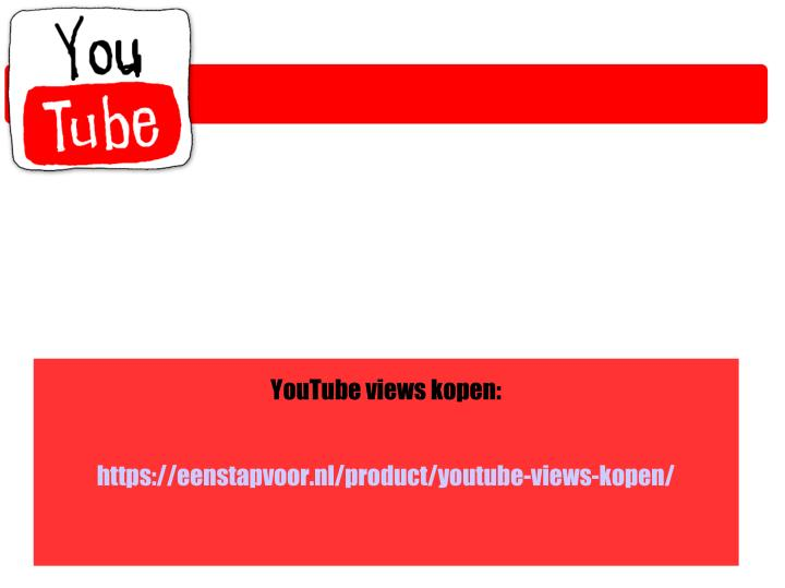 YouTube views kopen: