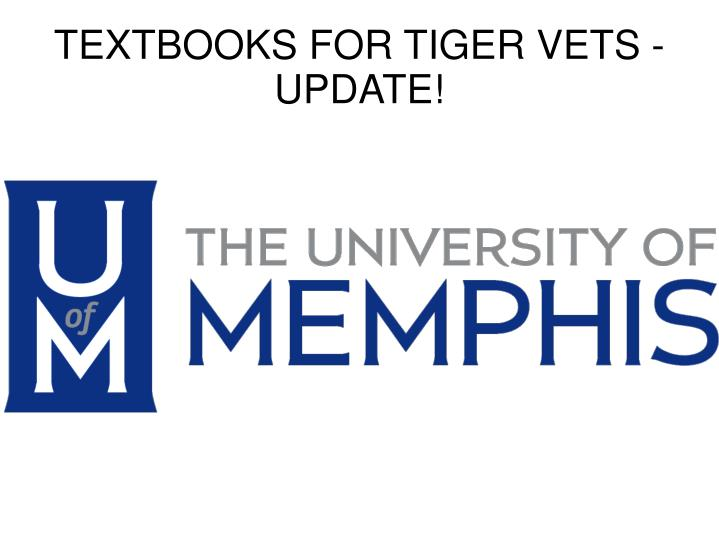 Textbooks for tiger vets update