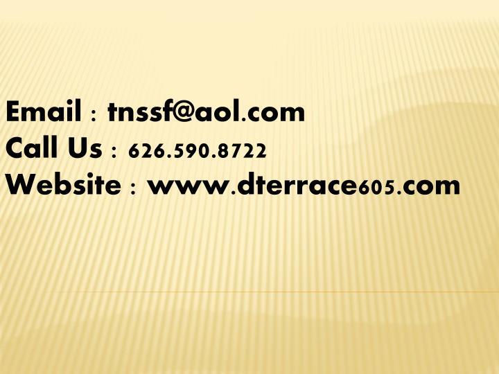 Email : tnssf@aol.com