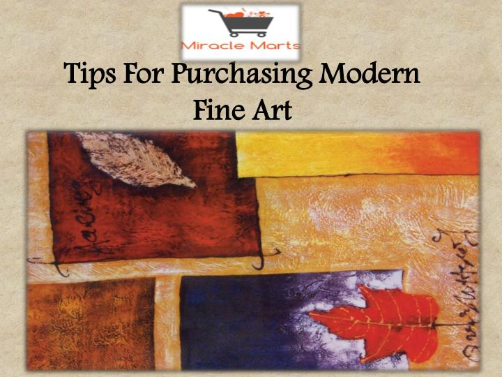 Tips For Purchasing Modern