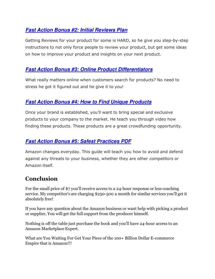 Fast Action Bonus #2: