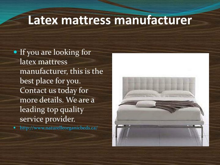 Latex mattress manufacturer