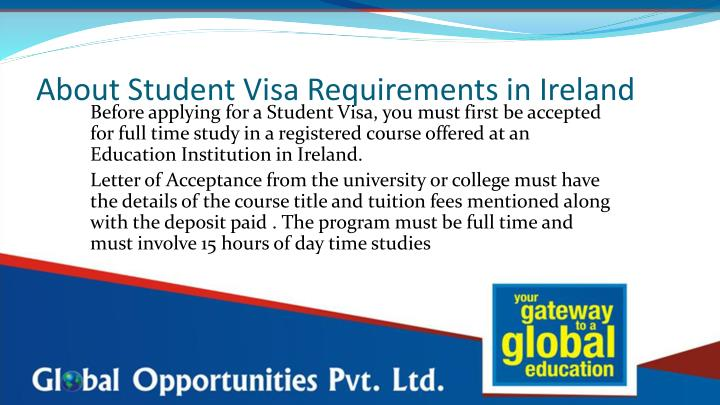 About Student Visa Requirements in Ireland