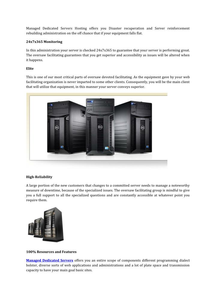 Managed Dedicated Servers Hosting offers you Disaster recuperation and Server reinforcement