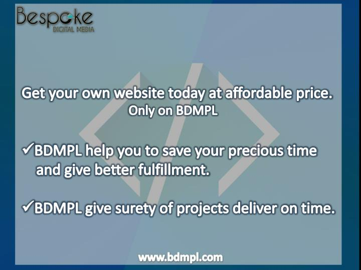 Get your own website today at affordable price.