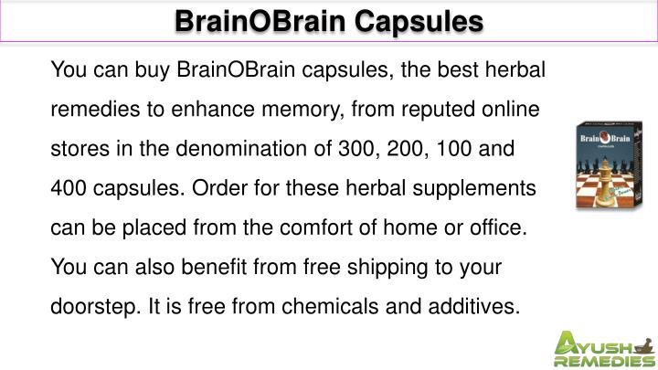 BrainOBrain Capsules