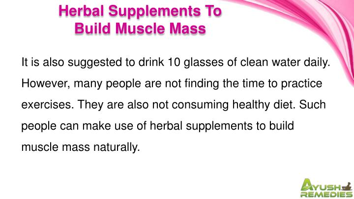 Herbal Supplements To