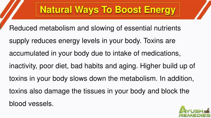 Natural Ways To Boost Energy