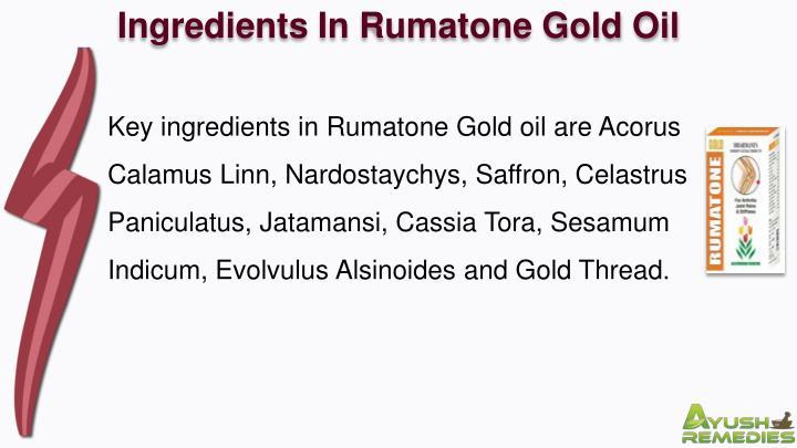 Ingredients In Rumatone Gold Oil