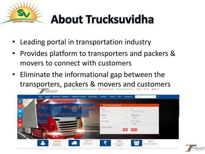 About Trucksuvidha