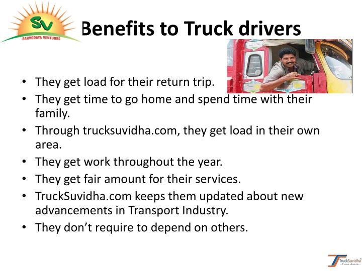 Benefits to Truck drivers