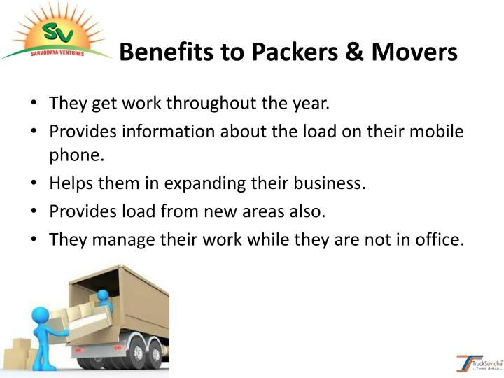 Benefits to Packers & Movers