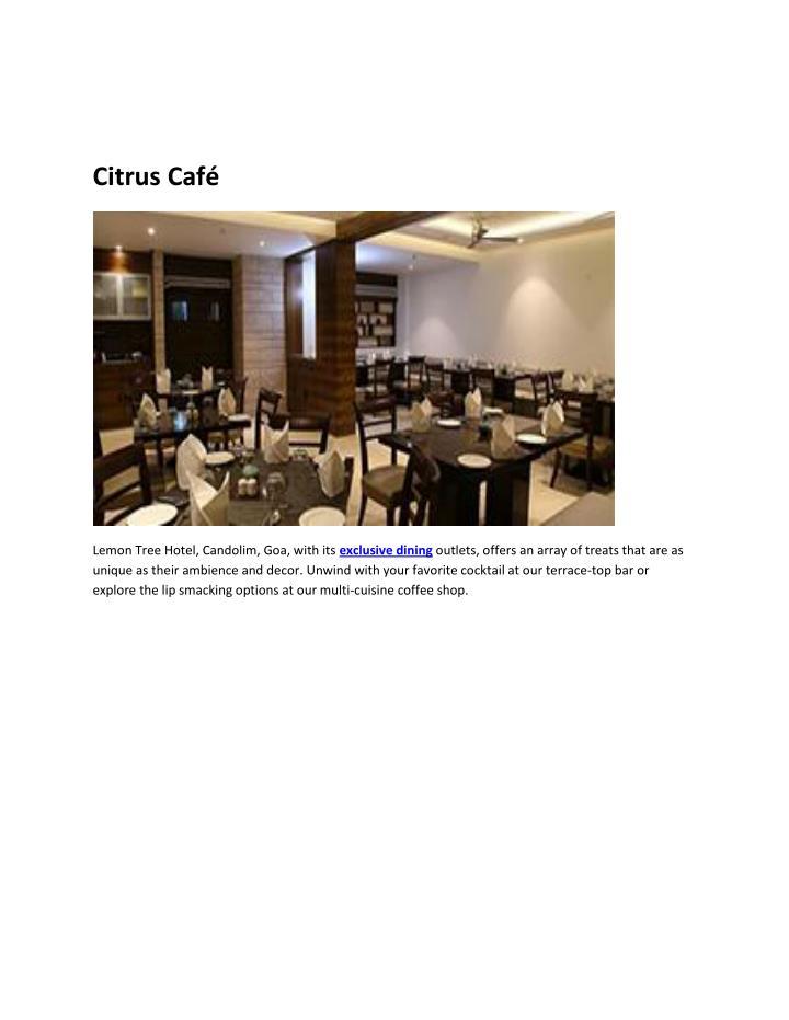Citrus Café